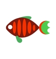 fish flat icon isolated on white background vector image vector image