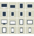 Flat gadgets collection vector image