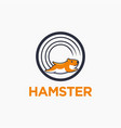 fun workout hamster cartoon character logo icon vector image