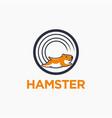 fun workout hamster cartoon character logo icon vector image