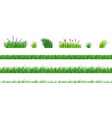 grass elements vector image vector image