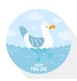 gull flat vector image
