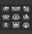 gym emblem set vector image