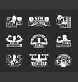 gym emblem set vector image