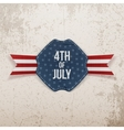 Independence Day 4th of July Holiday Tag with Text vector image vector image