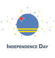 independence day of aruba patriotic banner vector image