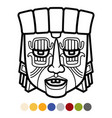 indian aztec african mexican tribal mask vector image