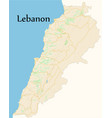 lebanon map vector image
