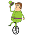 Man on one wheel vector image vector image