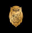 Modern owl crest family logo creative concept