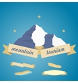 Mountains symbol with ribbon vector image vector image