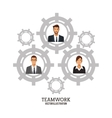 people business teamwork gears collaboration vector image