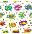pop art comic bubbles cartoon popart vector image