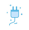 power plug icon design vector image