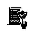 regulatory compliance black glyph icon