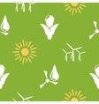 Renewable energy pattern vector image vector image