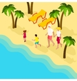 Retired People Family Vacation Isometric Banner vector image vector image