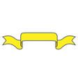 ribbon yellow sign 1509 vector image vector image