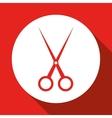 scissor icon design vector image vector image