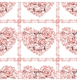 Seamless pattern with heart and text You my heart vector image vector image