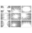 Set black and white gray radial lines comics