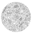 Set of Italian food cartoon doodle objects vector image vector image