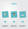 set of trend icons flat style symbols with vector image vector image