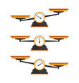 set scales vector image