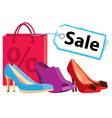 shoe sale vector image vector image