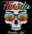 skull florida graphic design vector image vector image