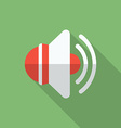 Speaker icon Modern Flat style with a long shadow vector image vector image
