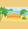 summer vacation flat banner children camp vector image vector image