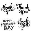 Thank you Happy Thanksgiving Day Hand drawn vector image vector image