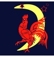 The coming year red rooster Chinese Year of the vector image vector image