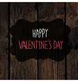 valentines day card design wooden texture vector image vector image