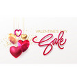 Valentines day sale background with realistic