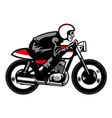 vintage motorbike ride vector image vector image