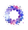Watercolor geometric cosmic frame vector image vector image