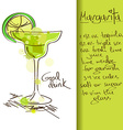 with Margarita cocktail vector image vector image
