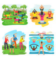 workout exercise active people exercising vector image vector image