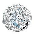 zodiac signes sagittarius vector image vector image