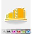 realistic design element oil towers vector image