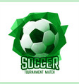 abstract green football soccer tournament sports vector image vector image