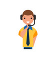 air traffic controller character man in uniform vector image