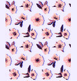 anemone flower seamless pattern eps vector image