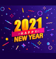 banner for 2021 new year vector image vector image