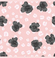 black roses on pink flowers background vector image