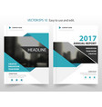 blue abstract annual report brochure design