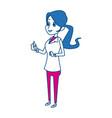 Cartoon woman medical professional standing