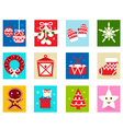 christmas advent calendar elements 1 vector image vector image